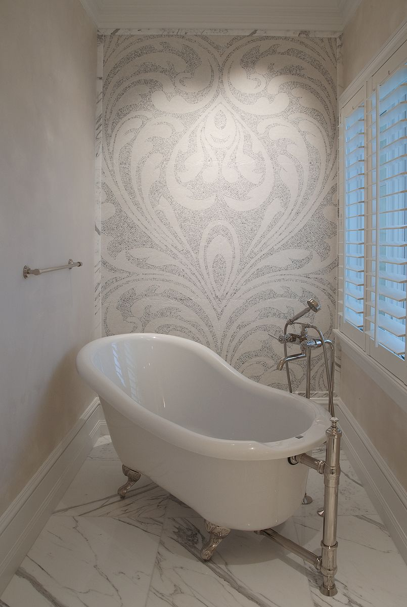 Footed tubs and ornate mosaic tiles all used in that 1920 ...