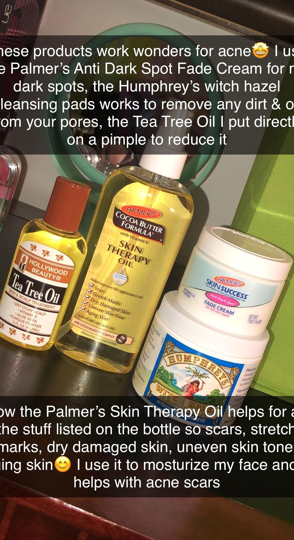 You Can Buy The Tea Tree Oil Palmers Skin Therapy Oil Palmers Anti Dark Spot Fade Cream All At Your Lo Skin Therapy Skin Care Routine Steps Skin Care Hair Care