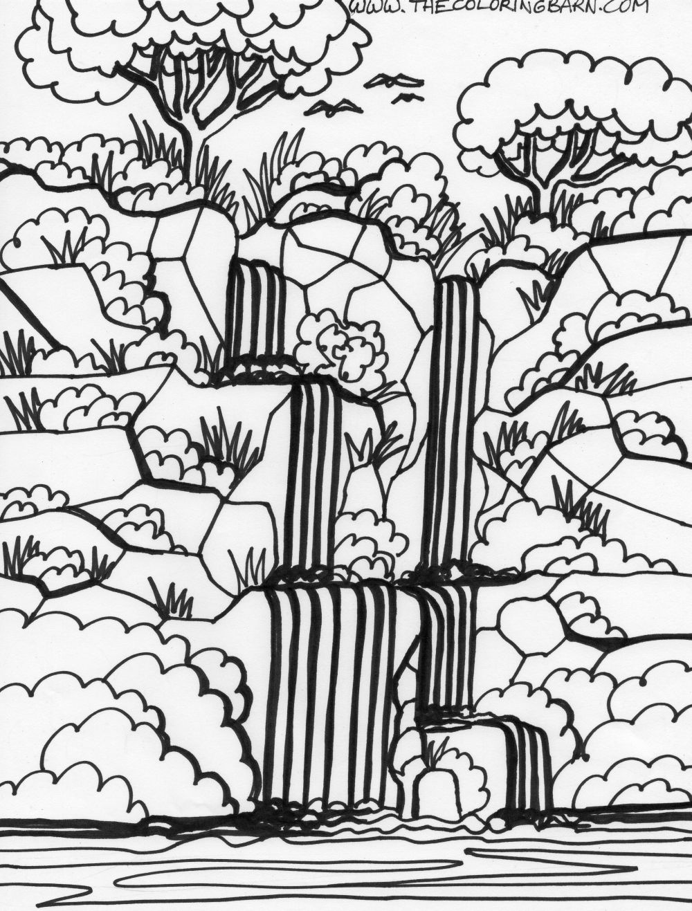 Amazon Rainforest Coloring Pages For Kids Jungle
