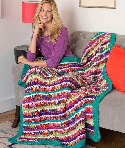 Butterfly Throw Free Crochet Pattern In Red Heart Yarn New New