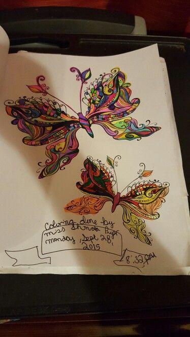 My Butterflys I Color From Colorama Coloring Book