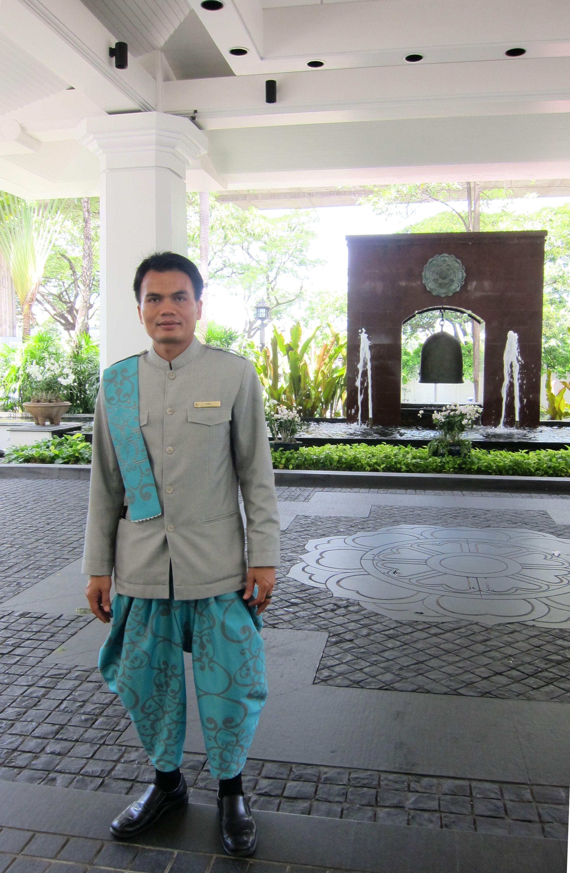 new uniform of four seasons hotel bangkok 39 s doorman with