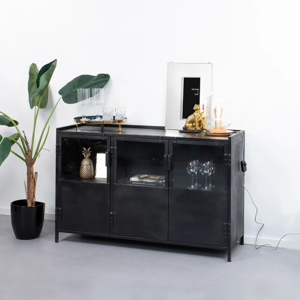 Photo of SoHome Industrieel Dressoir Noel 130 cm, kleur zwart