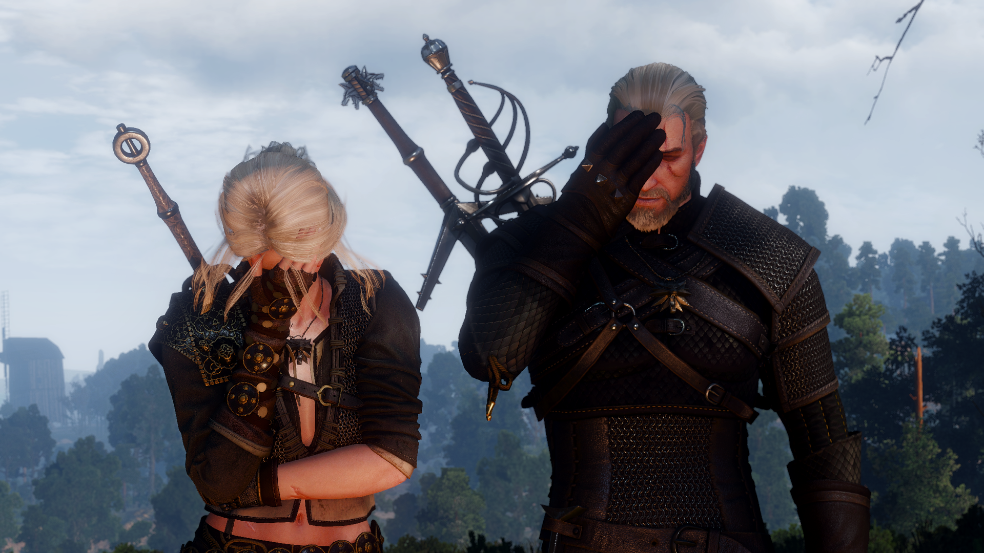 Double Facepalm (Ciri and Geralt) [SBUI MOD] #TheWitcher3 #PS4