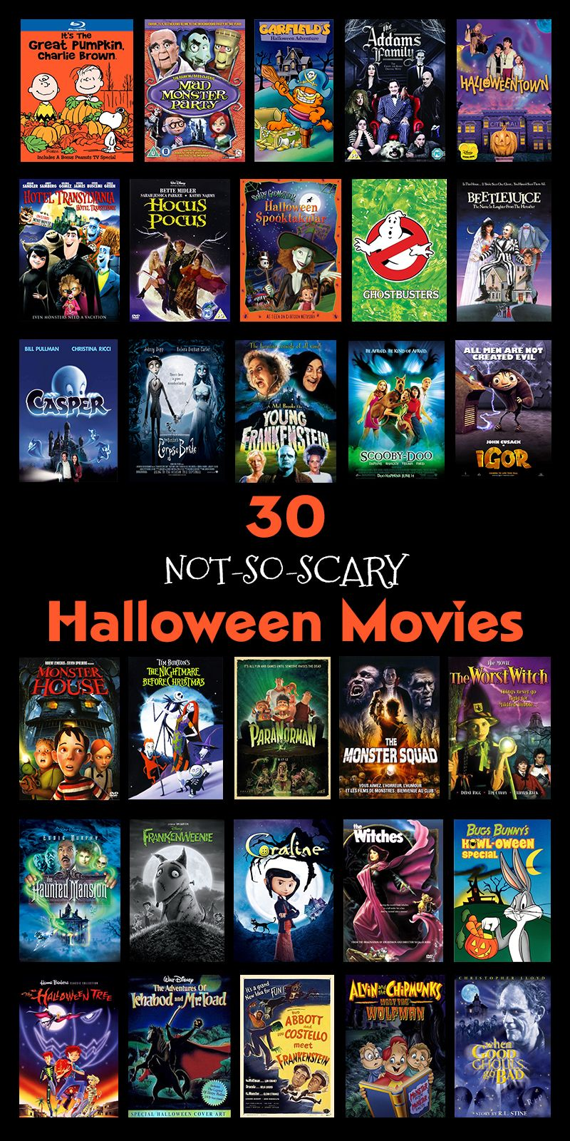 30 NotSoScary Halloween Movies 'Tis The Season