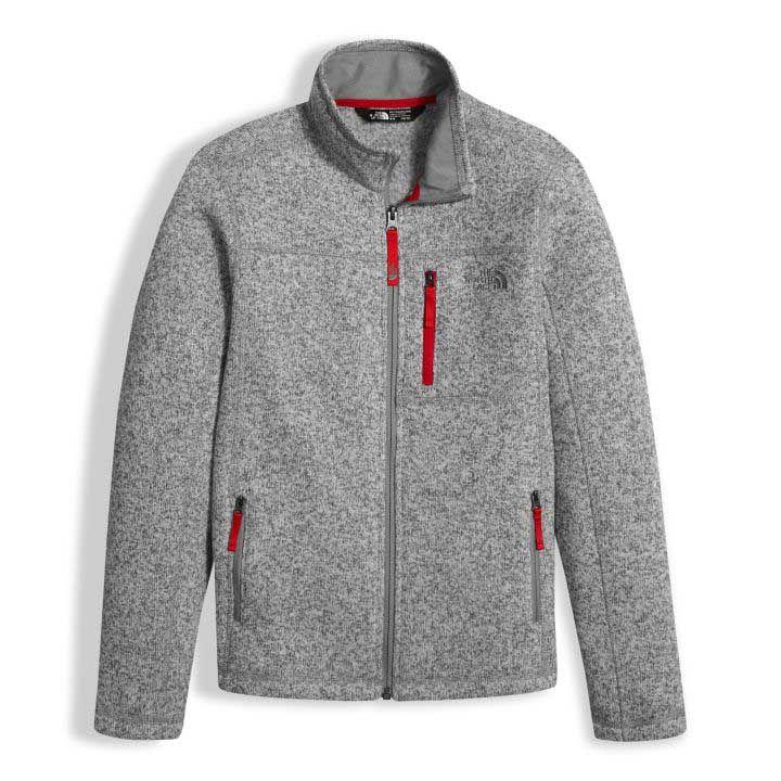 The North Face Gordon Lyons Full Zip Jacket in TNF Light Grey ...