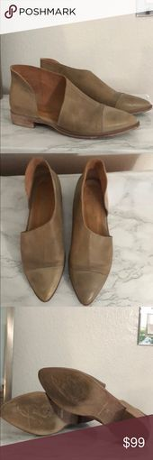Free People RoyalE Flats size 38 Previously owner Still in great condition Style No 36227502  Closed toe version of FP fave Mont Blanc Sandal leather flats are made with...