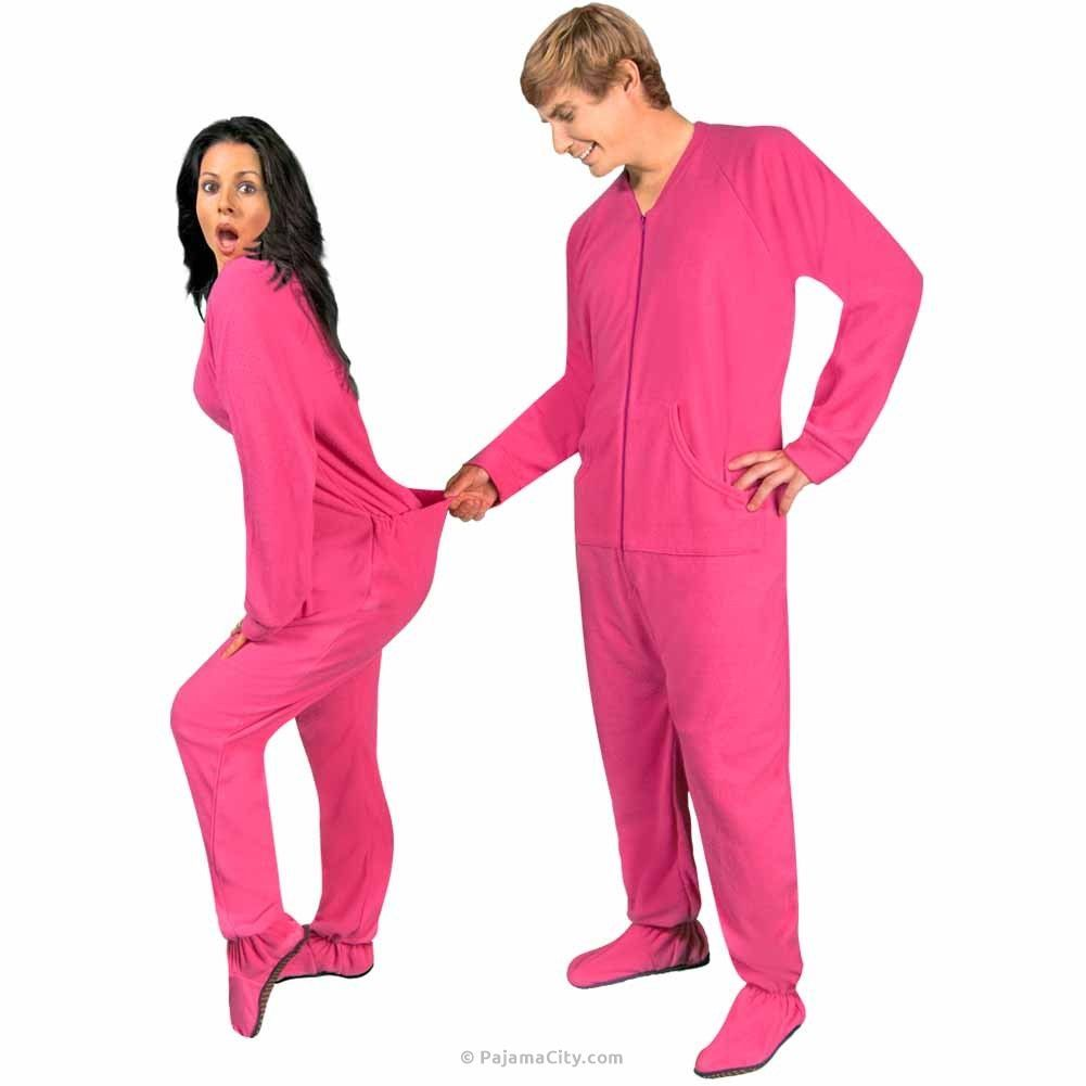 e3755fead Hot Pink Fleece Footed Pajamas with Drop Seat -  LIMITED SIZES