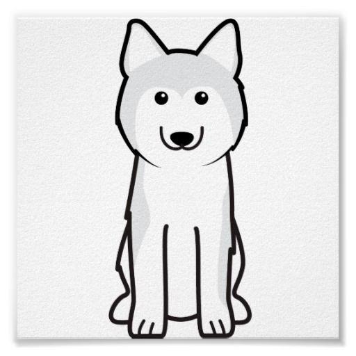 Siberian Husky Dog Cartoon Poster Zazzle Com Cartoon Dog