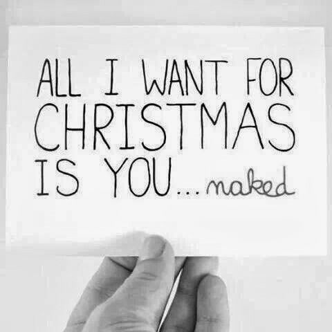 All I want for Christmas is you..... naked.  :)