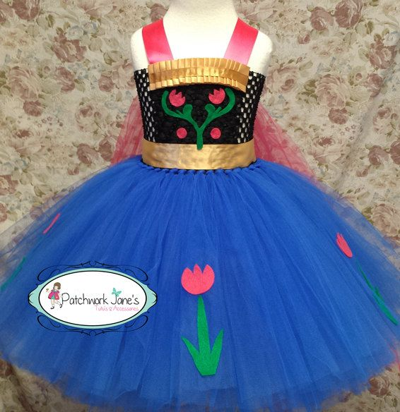 Anna Inspired Tutu dress  Birthday Pagent OOAK by PatchworkJanes, $45.00
