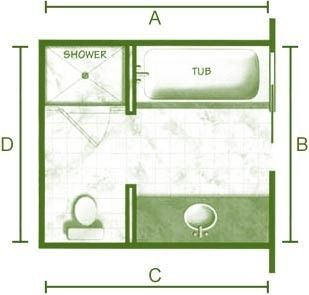 8X8 Bathroom Design 12X14 Floor Plans  Bathroom Designs Floor Planspictures