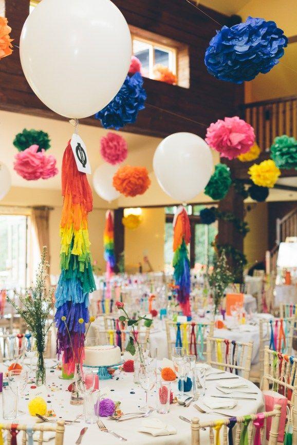 10 Colourful Rainbow Wedding Decor Ideas Tablescapestable