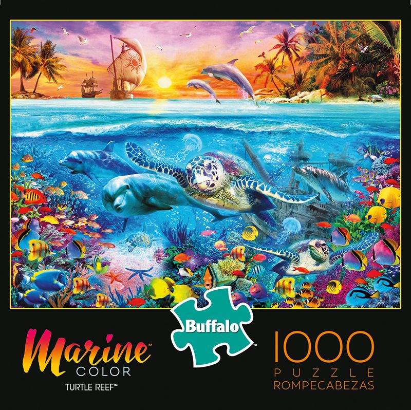 Marine Color Turtle Reef 1000 Piece Jigsaw Puzzle in 2020