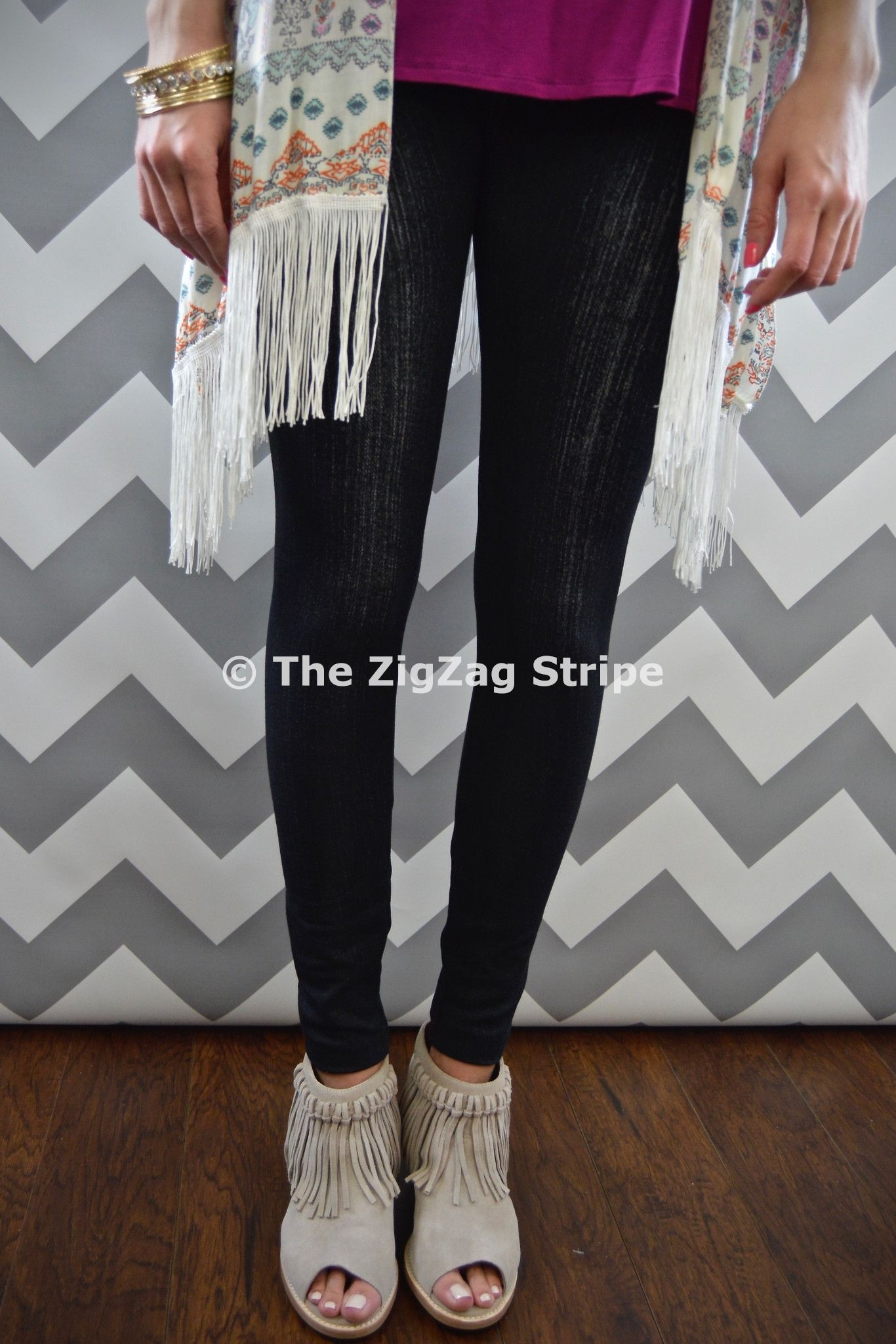 Black Jean-Like Jeggings – The ZigZag Stripe. Use coupon code ZZS72 to save 10%, and shipping is free! Zigzagstripe.com