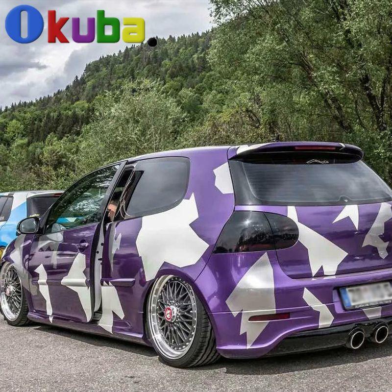 Purple Artic Camo Vinyl Car Sticker Full Car Body Wrap