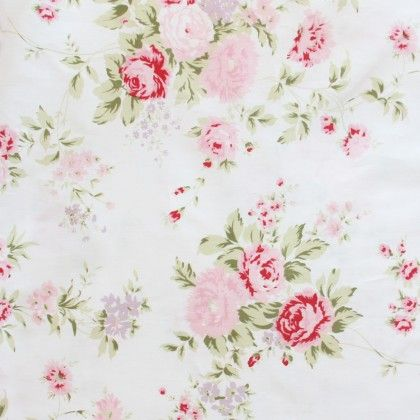 Shabby Chic Wildflower Fabric
