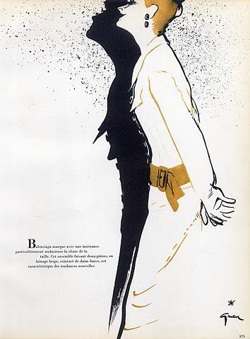 crist bal balenciaga 1952 ren gruau fashion illustration sketchpad pinterest gruau. Black Bedroom Furniture Sets. Home Design Ideas