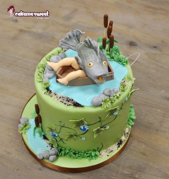 fishing cake angler j ger pinterest torten torte f r m nner und goldene hochzeit. Black Bedroom Furniture Sets. Home Design Ideas