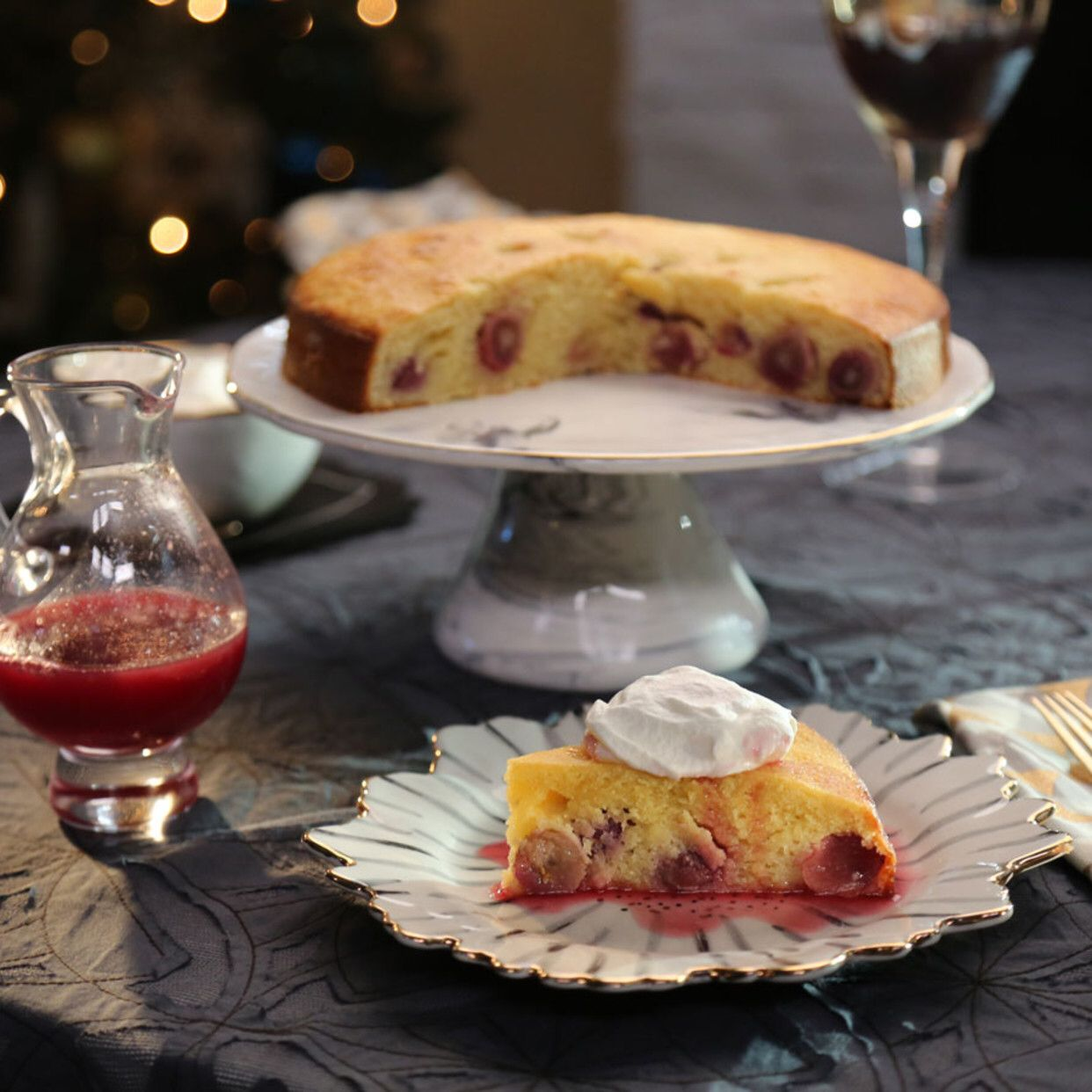 Olive Oil And Grape Cake With Honey Grape Glaze Recipe Food Network Recipes Glaze Recipe Recipes