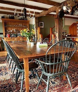 Astounding Colonial Home In 2019 Primitive Dining Rooms Dining Room Machost Co Dining Chair Design Ideas Machostcouk