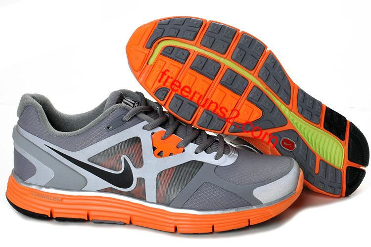 Cheap Nike Free US Size for Sale Mens Nike Lunarglide 3 Cool Grey/Black-Total  Orange-Reflective Silver Shield Shoes [nike free for sale -