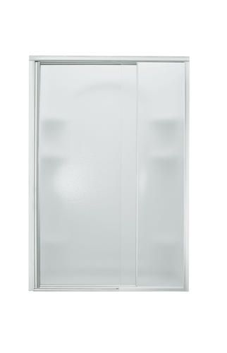 Sterling Vista Pivot 48 X 65 1 2 Hinge Shower Door In Silver With Pebbled Glass Texture Shower Doors Glass Texture Shower