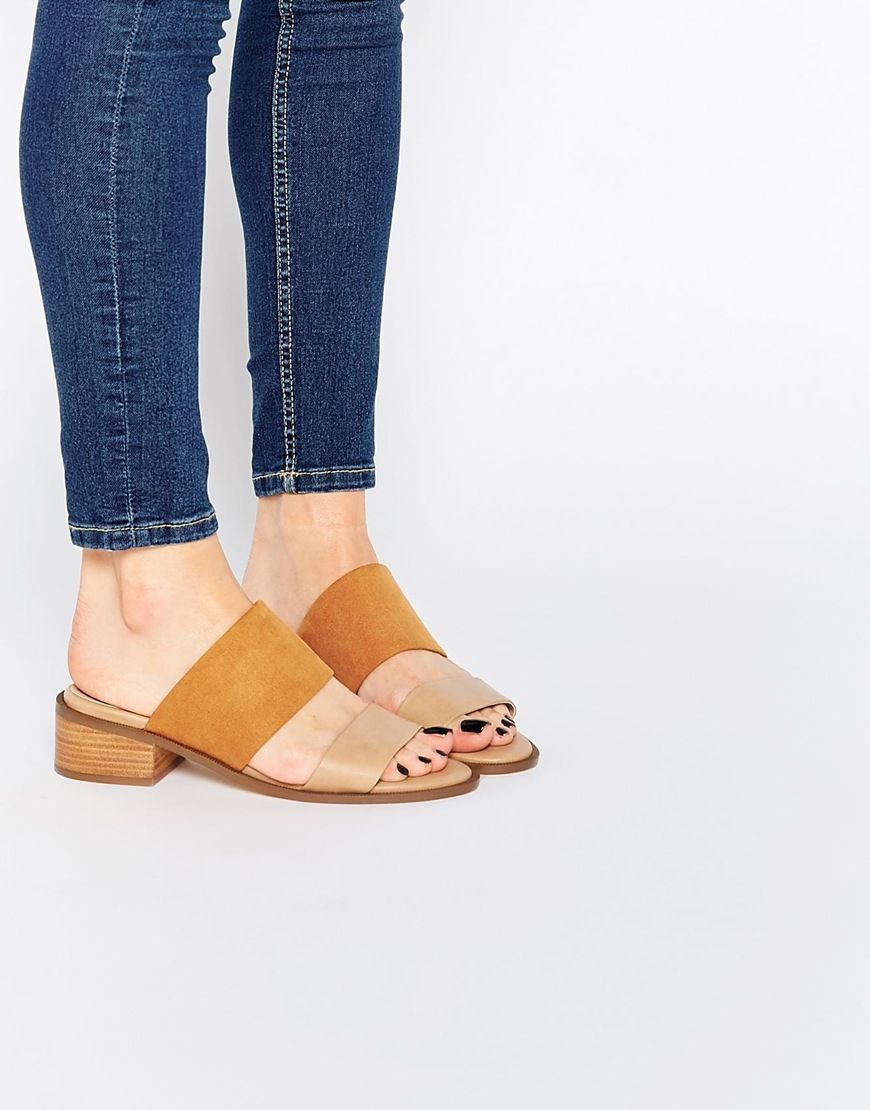3aa7c723a8 Image 1 of ASOS TOPIC Slip On Mule Sandals | wants! Plz | Mule ...