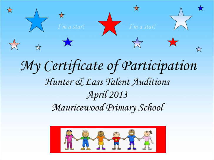 Talent show certificate school talent show pinterest for Talent show certificate template