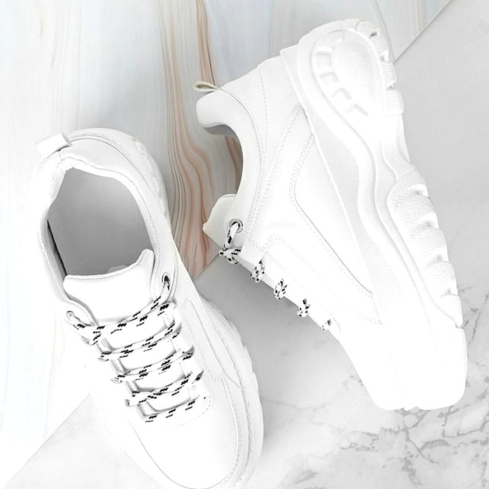 SHEIN Shoes Chunky White Platform