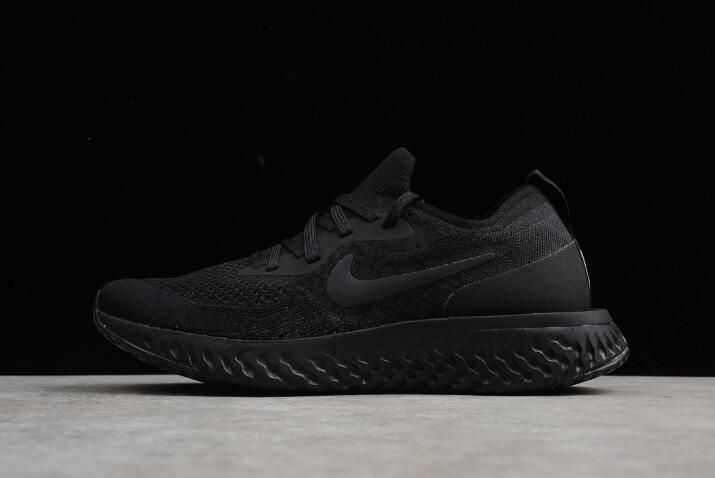 9c30f6e3b5af Mens and Womens Nike Epic React Flyknit Triple Black Running Shoes ...
