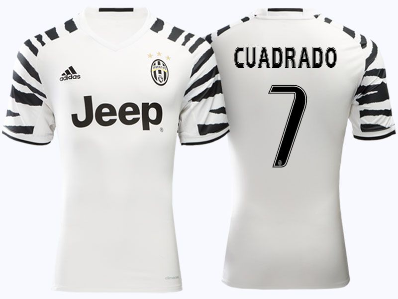 wholesale dealer 48513 f48cf Juventus #7 Juan Cuadrado 2016-17 Alternate Short Shirt ...