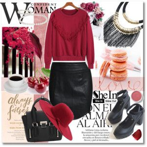 Shein Red&Black Combination