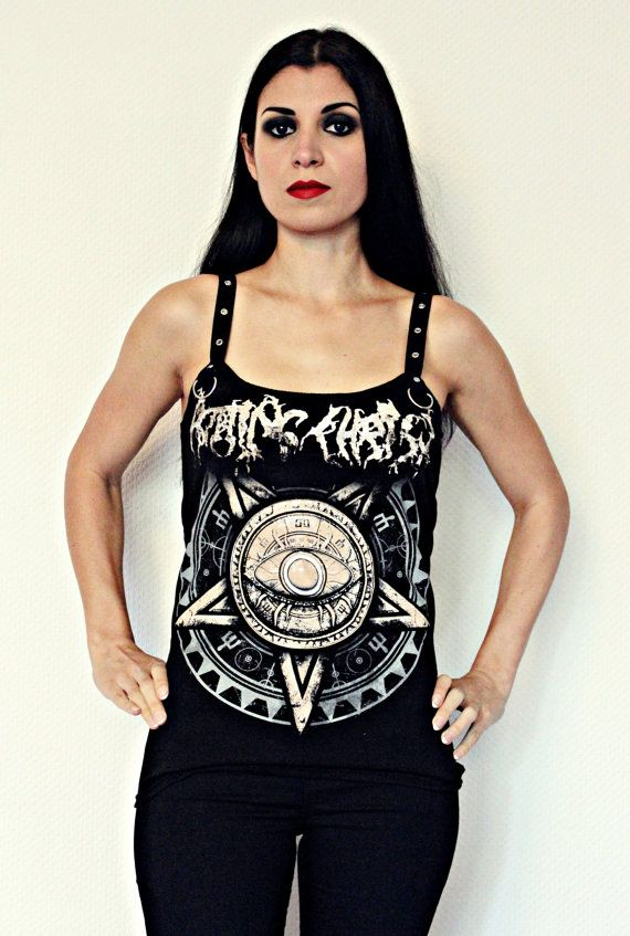 4732eb0a8114 Rotting Christ t shirt metal top black metal clothing reconstructed  alternative apparel altered band tee t-shirt rocker chic