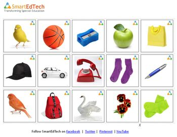Identify Colors Smartedtech Cards Speech Therapy Color