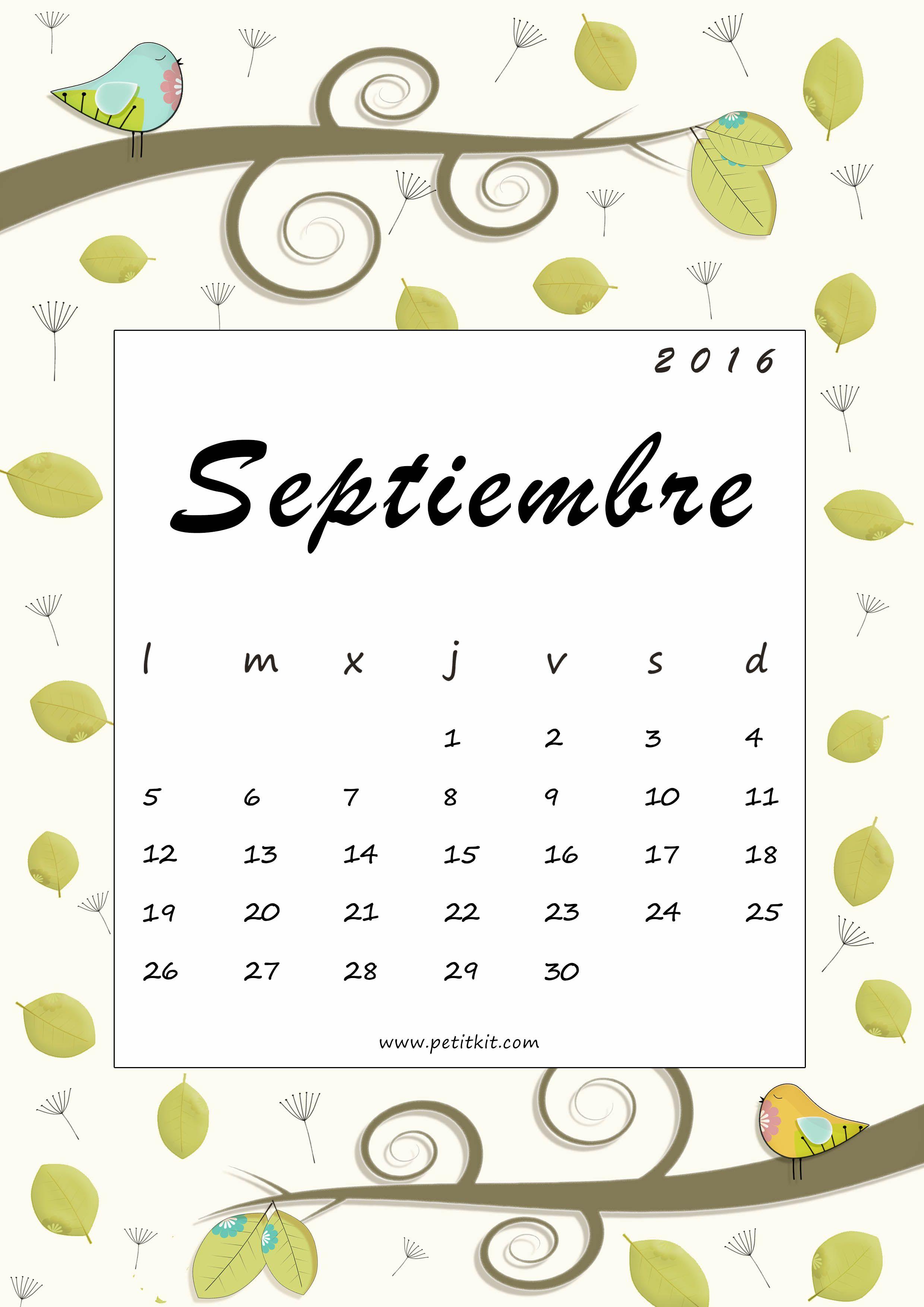 Calendario De Septiembre 2019 Para Imprimir Animado.Calendario 2019 En Formato Pdf Para Imprimir Calendario