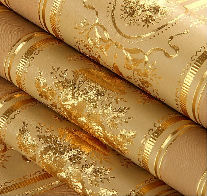 Cheap Wallpapers On Sale At Bargain Price Buy Quality Paper Wallpaper Paper Star Lantern Pattern Living Room Wall Wallpaper Gold Wallpaper Striped Wallpaper