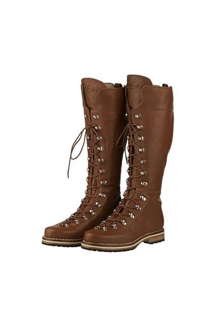 Luis Trenker Boots, Leder, braun
