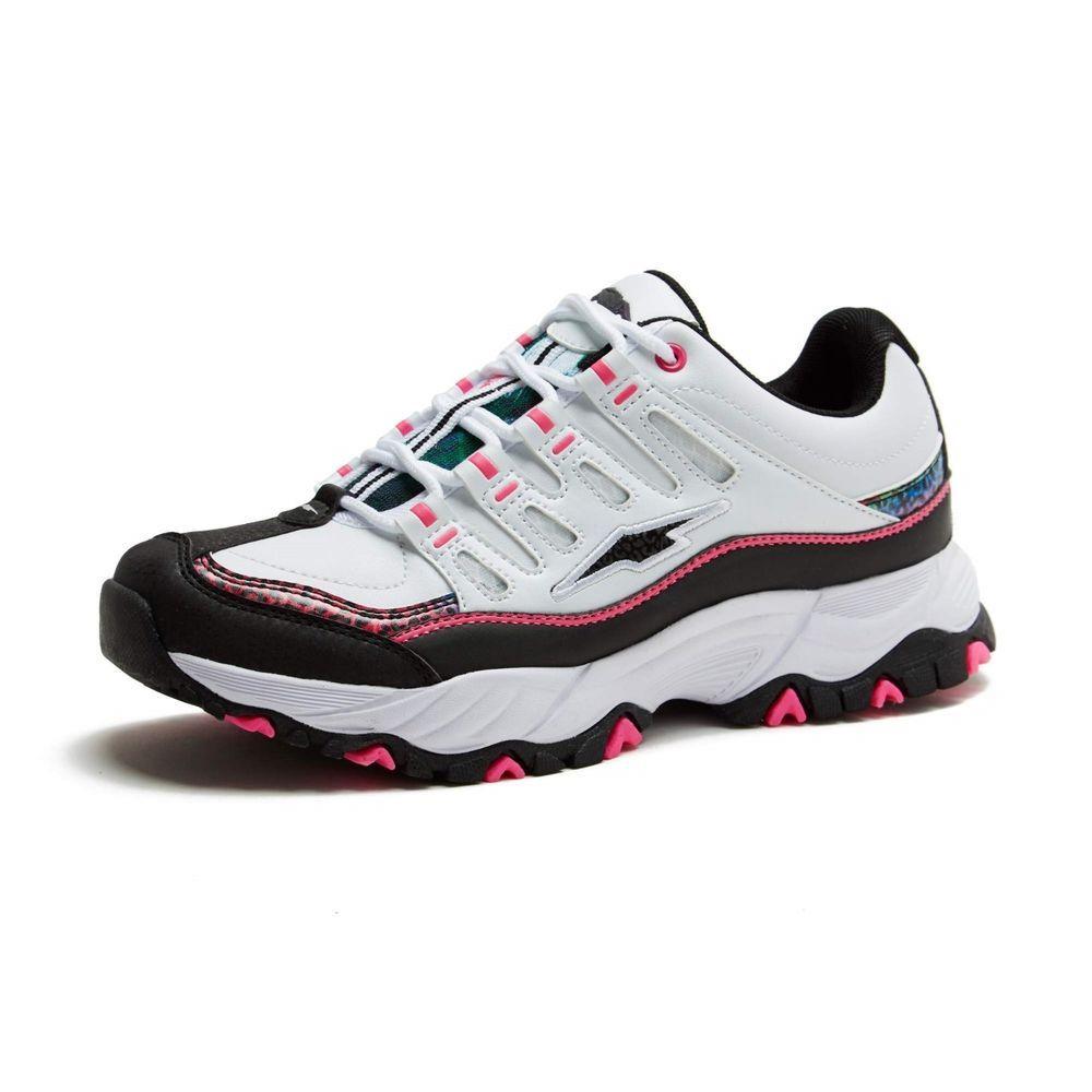 b7bd20997e3 Avia Women s White w Black Pink Elevate Memory Foam Athletic Sneaker Shoe  NWOB  Avia  AthleticSneakers