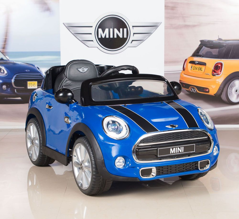MINI COOPER 12V KIDS RIDE ON ELECTRIC CAR WITH REMOTE BLUE
