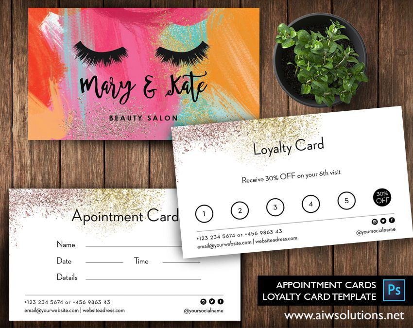 Printable Diy Custom Digital Download Business Card Loyalty Card Customer Loyalty Cards Loyalty Card Template