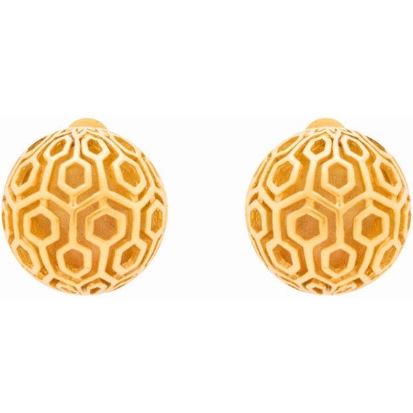 Julie Vos Casablanca Gold Clip Earrings ($59) ❤ liked on Polyvore featuring jewelry, earrings, gold, gold clip on earrings, earring jewelry, gold jewelry, clip on stud earrings and gold stud earrings