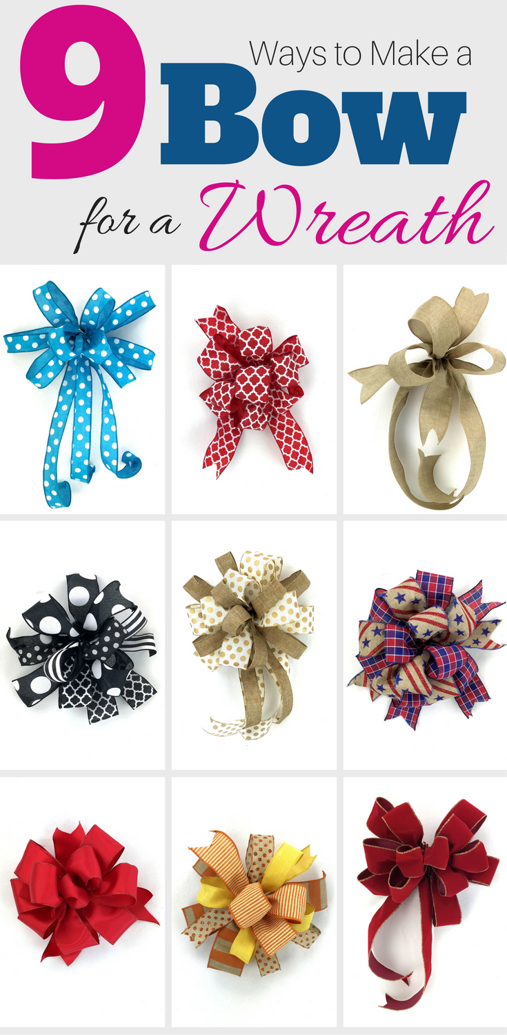 9 Ways To Make A Bow For A Wreath Southern Charm Wreaths Wreath Crafts How To Make Bows Christmas Bows
