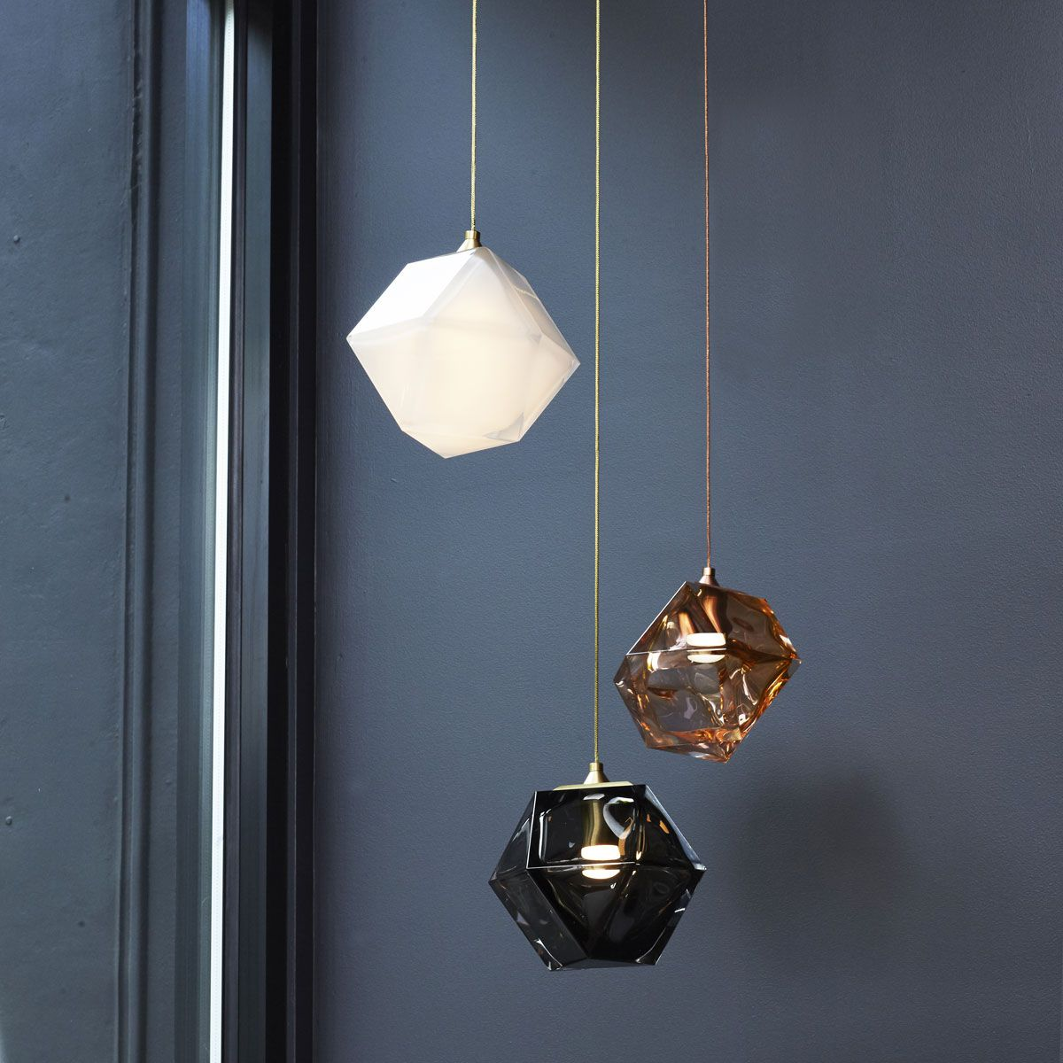 gabriel scott welles double blown glass luminaire design deco lighting pinterest. Black Bedroom Furniture Sets. Home Design Ideas