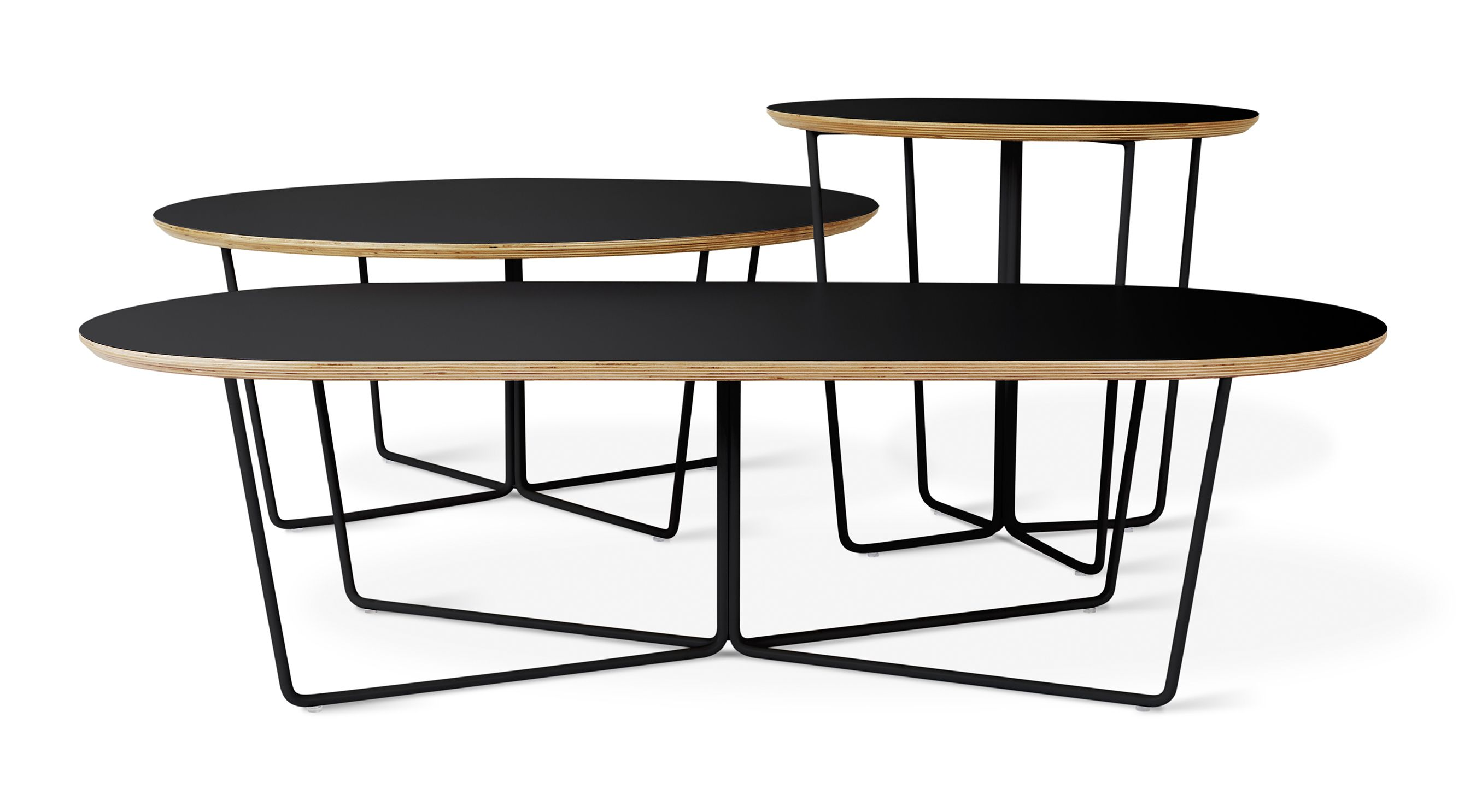 Array Table Series Black The Array Table Series Features An Elegant Geometric Base That Repeats Around A Centr Coffee Table Oval Coffee Tables Gus Modern [ 1486 x 2700 Pixel ]