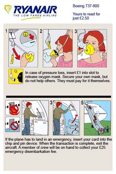 Funny Ryanair Safety Features Ryanair Pinterest Funny Safety