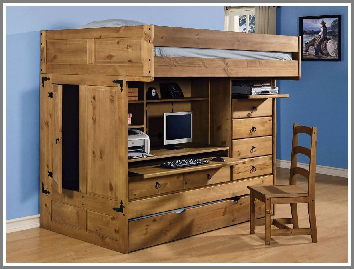 123 Reference Of All In One Computer Desk And Chair In 2020 Build A Loft Bed Rustic Bunk Beds Modern Bedroom Interior