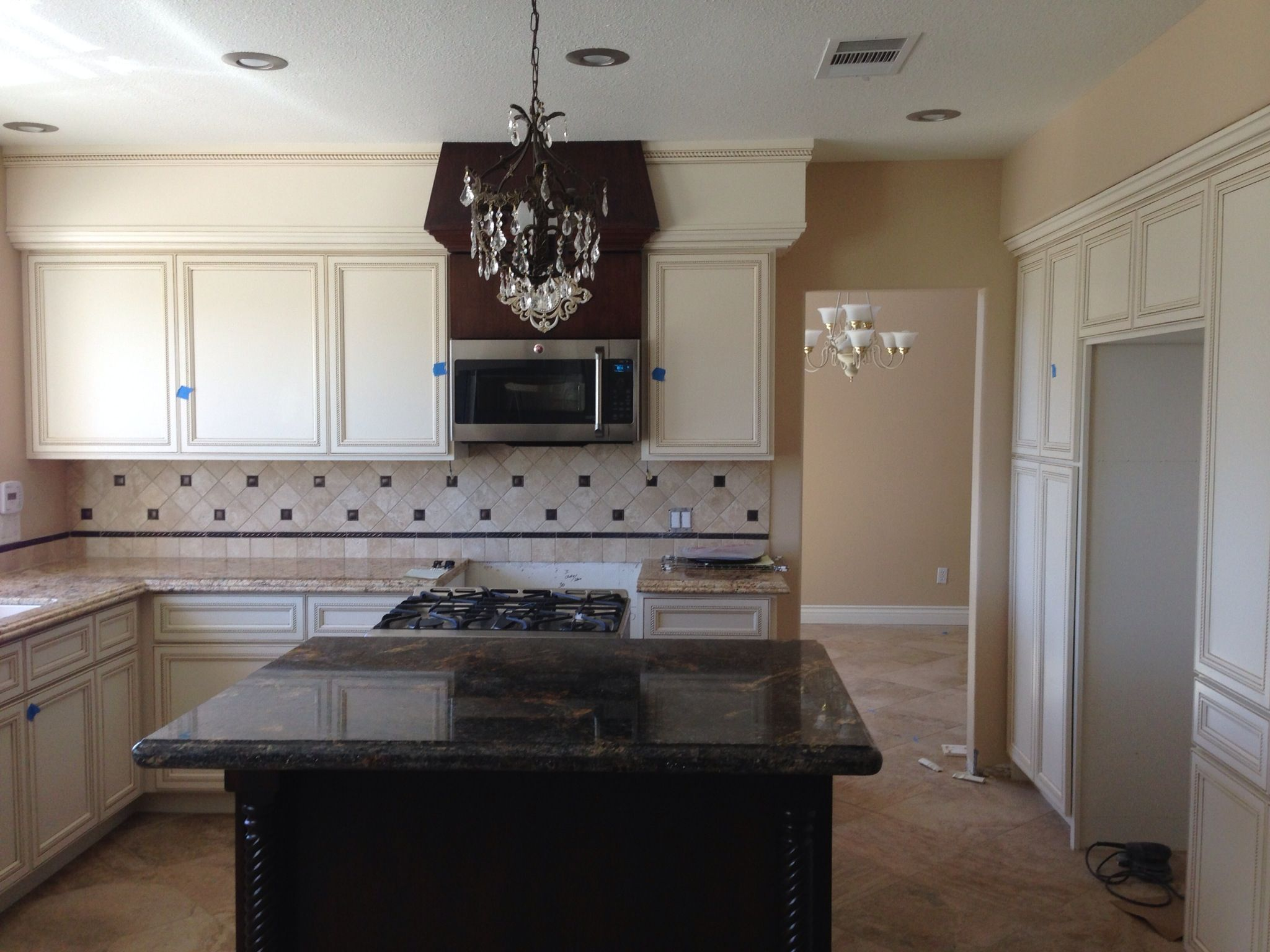 Chandelier check micro check granite u tile check now if we