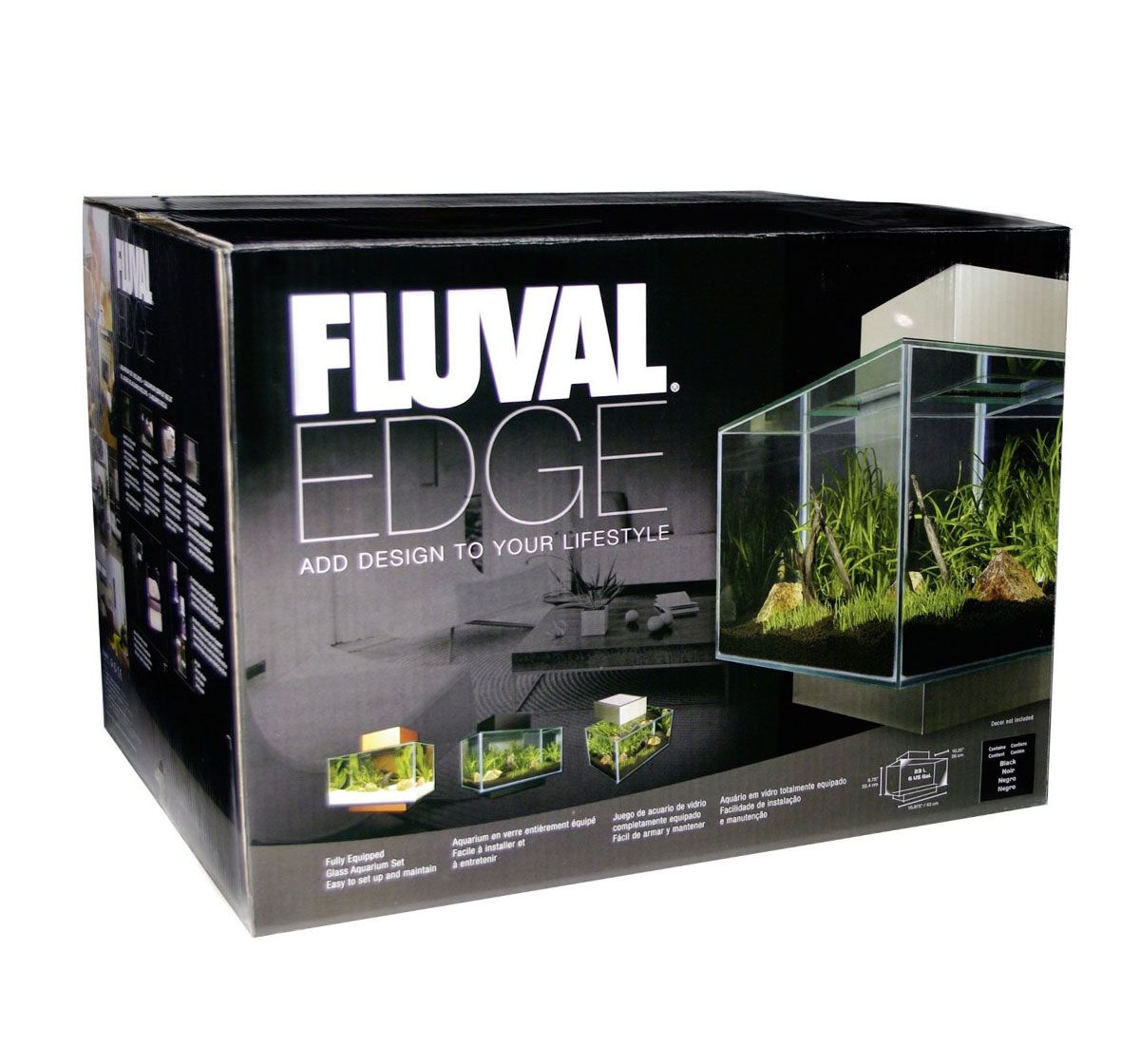 Fish for aquarium online - Buy Online Fluval Edge Aquarium Set Led White 23ltr At Online Fish Store Http