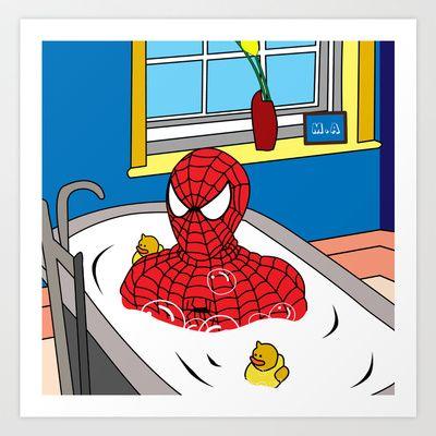 Spiderman Art Print By Mark Ashkenazi 26 00 House